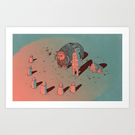 The Bison #2 Art Print