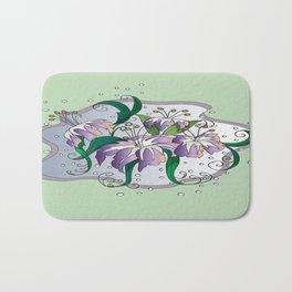 flying lilies  Bath Mat