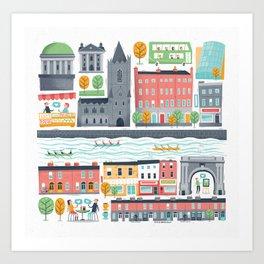 Dublin City Art Print