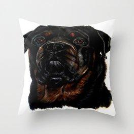 Male Rottweiler Throw Pillow