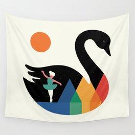 Swan Dance Wall Tapestry