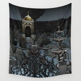 The Frozen Cemetary Wall Tapestry
