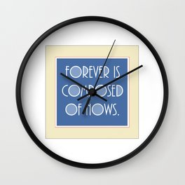 Emily Dickinson quote. Wall Clock