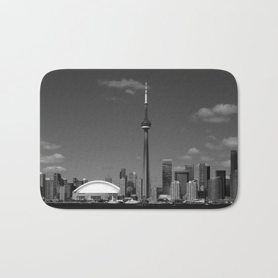 Toronto Skyline Bath Mat
