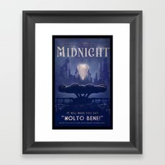 Midnight Framed Art Print