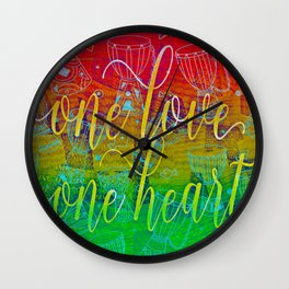One Love One Heart Wall Clock