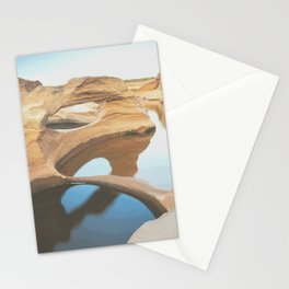 Scenic rock terrain with natural water reservoirs Stationery Cards