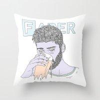 zayn Throw Pillows featuring Zayn by Megandoods