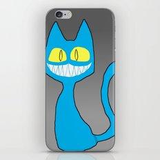 GRINKAT (Bright Blue) iPhone & iPod Skin