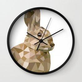 Rabbit Bunny  Geometric animal art Wall Clock