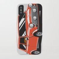 mini cooper iPhone & iPod Cases featuring Mini Cooper Car - Red by C Barrett