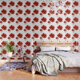 Watercolour Poppies Wallpaper