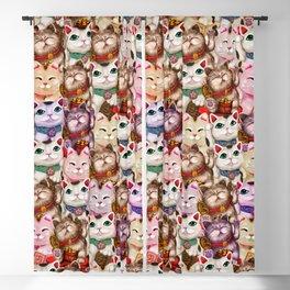 Maneki-neko cats pattern Blackout Curtain
