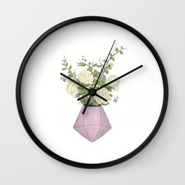 Gemstone Flowers | Digital Artwork Wall Clock