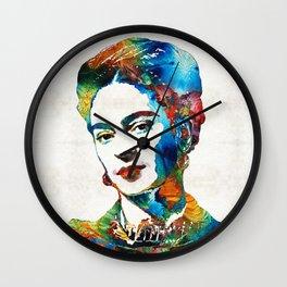 Frida Kahlo Art - Viva La Frida - By Sharon Cummings Wall Clock