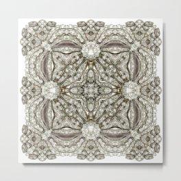 Kaleidoscope No.11 - White Diamonds Metal Print