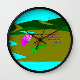 My Colorful and True Ode to Beautiful Appalachia! Wall Clock