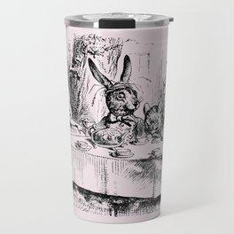 Blush pink - mad hatter's tea party Travel Mug