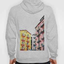 Colored buildings Hoody