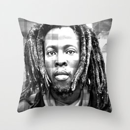 Rasta Man 3 Throw Pillow