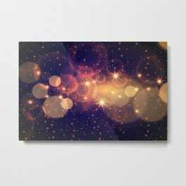 Starry Lights Metal Print