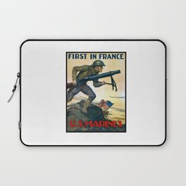 US Marines -- First In France Laptop Sleeve