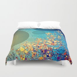 Sky and Leaves Duvet Cover