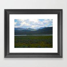 Green Hills Framed Art Print
