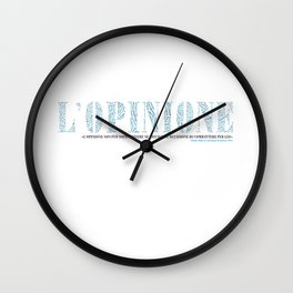 L'Opinione Wall Clock