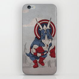 Captain Ameritops - Superhero Dinosaurs Series iPhone Skin