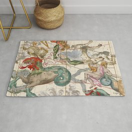 Vintage Constellation Map - Star Atlas Rug