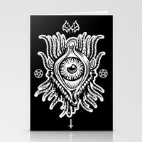 all seeing eye Stationery Cards featuring All Seeing Eye by girlxboy