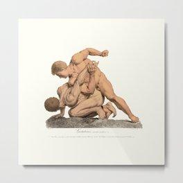 Nude Wrestlers Metal Print