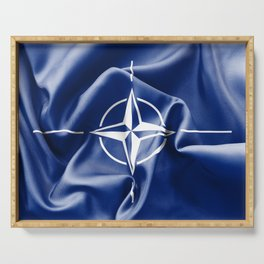 NATO Flag Serving Tray