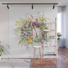 California Wreath Wall Mural