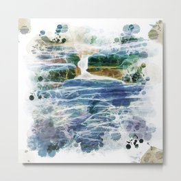 Abstract rock pool in the rough rocks Metal Print