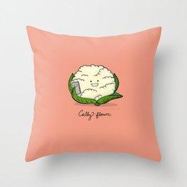 Cally-flower Throw Pillow