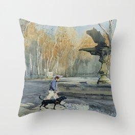 Paseo de Carlos III Throw Pillow