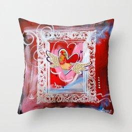 Shiny Happy Heart Throw Pillow