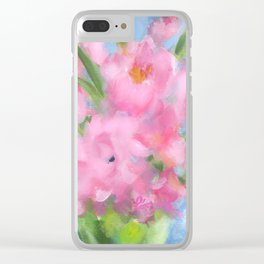 Teacup Pinks Clear iPhone Case