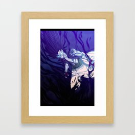 Iron Shadow Dragon Framed Art Print