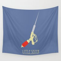bioshock Wall Tapestries featuring Little Sister by EvanAndyJones