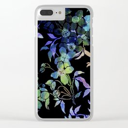 garland of flowers black version Clear iPhone Case