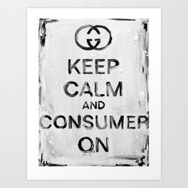 Consumer On Art Print