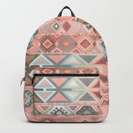 Aztec Artisan Tribal in Pink Backpack
