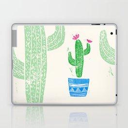 Linocut Cactus #2 in a pot Laptop & iPad Skin