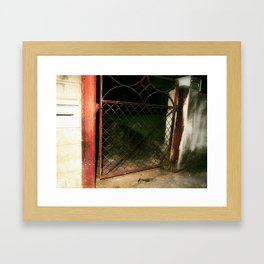 red gate land Framed Art Print