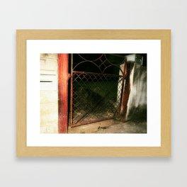 red gate land Framed Art Print