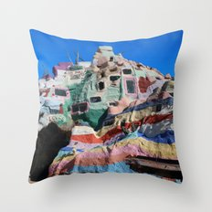 Salvation Mountain No. 3 Throw Pillow