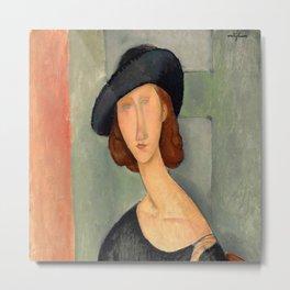 "Amedeo Modigliani ""Jeanne Hébuterne (Au chapeau)"" Metal Print"